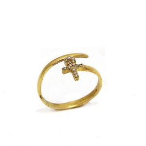 eyptian cross ring silver 925